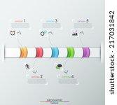 modern infographics timeline... | Shutterstock .eps vector #217031842
