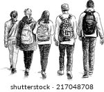 school children | Shutterstock .eps vector #217048708