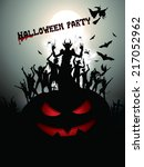 halloween party background  | Shutterstock .eps vector #217052962