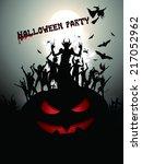 halloween party background  | Shutterstock .eps vector #217052962