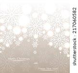 beautiful christmas beige... | Shutterstock .eps vector #217060582