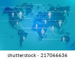 social map of the world with... | Shutterstock . vector #217066636