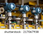 pressure transmitter in oil and ... | Shutterstock . vector #217067938