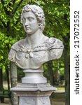 sculpture in parc de bruxelles  ... | Shutterstock . vector #217072552