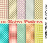 10 retro seamless patterns.... | Shutterstock . vector #217092952