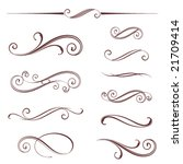 vectorized scroll design.... | Shutterstock .eps vector #21709414