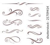 vectorized scroll design.... | Shutterstock .eps vector #21709414