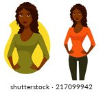 cute cartoon illustration of a... | Shutterstock .eps vector #217099942