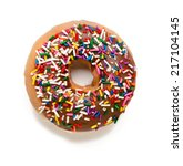 Chocolate Donut With Sprinkles...