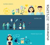 nurse service primary health... | Shutterstock .eps vector #217112926