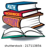 a group of colorful text books  ... | Shutterstock .eps vector #217113856
