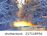 The River In The Winter At...