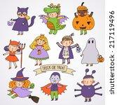 Cute Cartoon Children In...