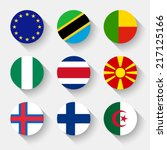 flags of the world  set 03 with ... | Shutterstock .eps vector #217125166