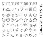 icon set element. minimalist. | Shutterstock .eps vector #217129105