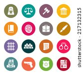 law icon set | Shutterstock .eps vector #217132315