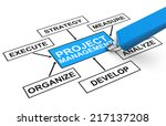 project management | Shutterstock . vector #217137208