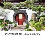 Round Doorway In Ancient Yu...