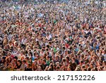 madrid   sep 13  people from... | Shutterstock . vector #217152226