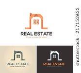 real estate vector icons  logos ...   Shutterstock .eps vector #217152622