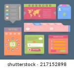 web elements vector flat style...