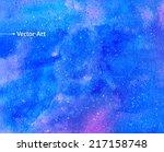 watercolor universe. vector... | Shutterstock .eps vector #217158748