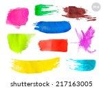 vector grunge watercolor... | Shutterstock .eps vector #217163005