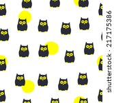 seamless halloween pattern | Shutterstock .eps vector #217175386