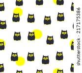 seamless halloween pattern | Shutterstock .eps vector #217175386