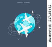 planes icon. world travel... | Shutterstock .eps vector #217185652