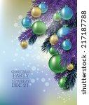 elegant classic christmas flyer ... | Shutterstock .eps vector #217187788