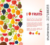 fruits background. colorful... | Shutterstock .eps vector #217188355