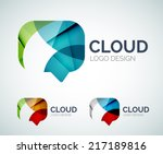 abstract chat cloud logo design ... | Shutterstock .eps vector #217189816