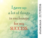 life quote. inspiration... | Shutterstock . vector #217190536