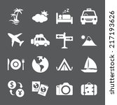 travel and tourism icon set ... | Shutterstock .eps vector #217193626