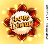 vector happy diwali background | Shutterstock .eps vector #217198306