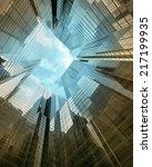 glass skyscraper perspective... | Shutterstock . vector #217199935