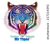 fashion tiger head design | Shutterstock .eps vector #217214392