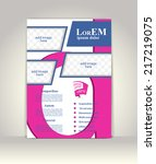 flyer  brochure or magazine... | Shutterstock .eps vector #217219075