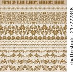 Set Of Vector Lace Pattern ...