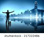 business opportunity in the big ... | Shutterstock . vector #217222486