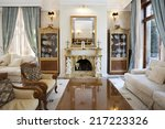 interior of a living room with...   Shutterstock . vector #217223326
