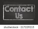 Contact Us Box Chalk Sign On...