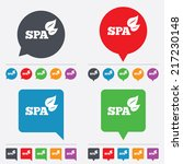 spa sign icon. spa leaves... | Shutterstock .eps vector #217230148