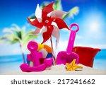 beach accessories  | Shutterstock . vector #217241662