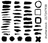 black blobs set  vector... | Shutterstock .eps vector #217247938