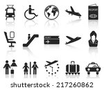 airport and travel icons set | Shutterstock .eps vector #217260862