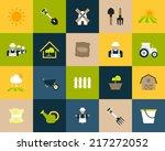 flat icons set 26   farm and...