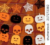 halloween decoration with... | Shutterstock .eps vector #217272382