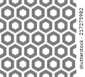 Checkered Hexagons Seamless...